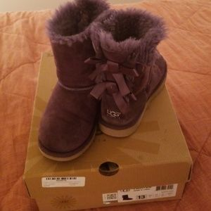 Purple Bailey Bow Boots